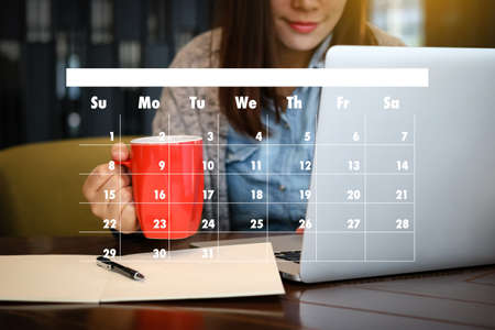 Appointment Reminder to Calendar and Organizer Agenda Stok Fotoğraf - 79118059