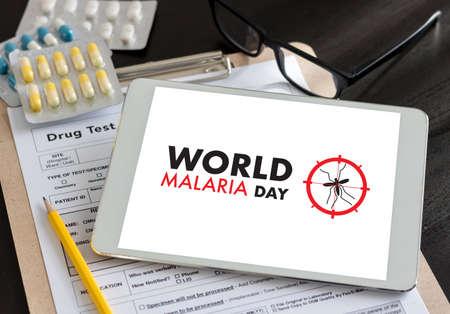 malaria: MALARIA mosquito sucking blood World Malaria Day Zika virus alert Stock Photo