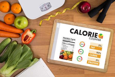 Calorie Pay Bar Applicazione Medico Mangiare Dieta Concetto sano Archivio Fotografico
