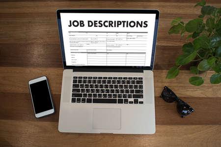 JOB DESCRIPTIONS Human resources, employment, team management Imagens - 79177009