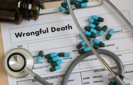 wrongful: Wrongful Death Doctor talk and  patient medical working at office
