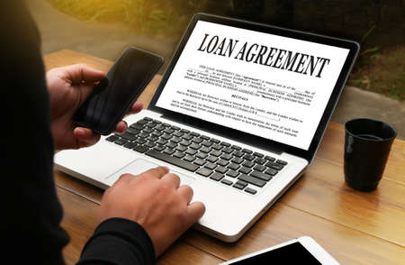 autograph: LOAN AGREEMENT Business Support document and agreement signing