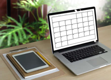 Agenda Activity Information Calendar Events and Meeting Appointment Stock Photo