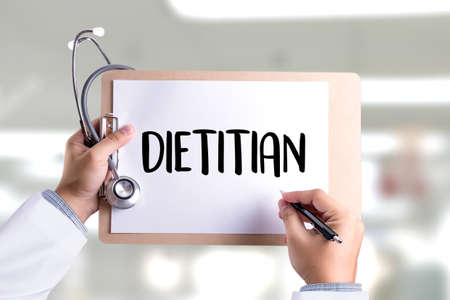 dietetics: DIETITIAN and Nutritionist doctor or dietitian and dietitian professional unhealthy