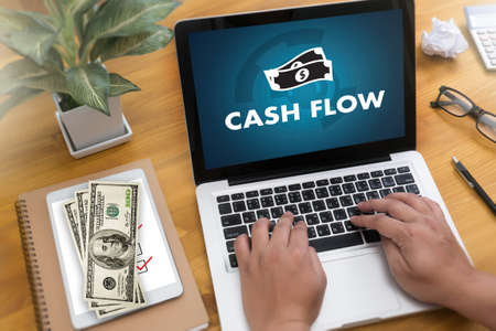 CASH FLOW money Investment and graph chart Investing Banking Stock fotó - 80004190