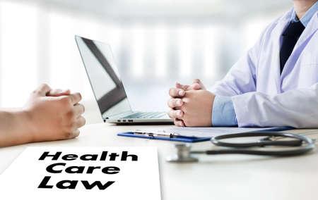 Health Care Law health benefits claim medicine Stock Photo
