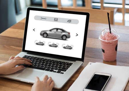 rentals: Car Rental Salesman Automobile Vehicles Car Rentals Transportation Stock Photo
