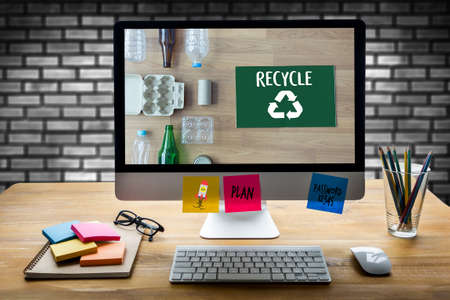 Environmental Conservation Recycle concept Stock Photo