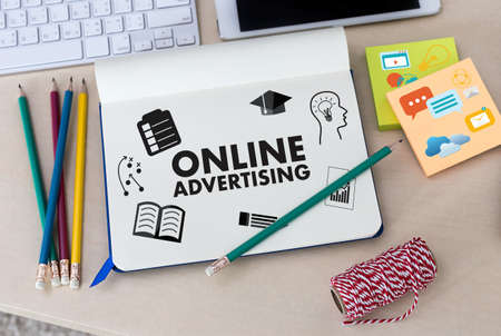 ONLINE ADVERTISING Website concept Stock Photo