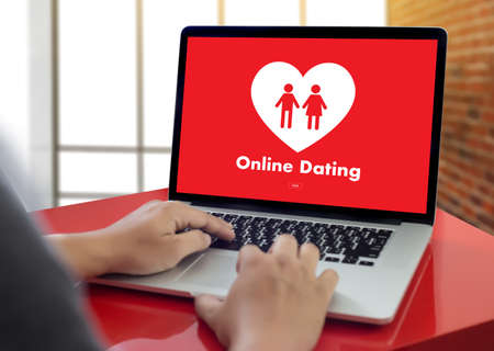 affinity: Online Dating concept Stock Photo