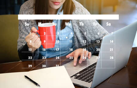 Aanstellingsherinnering aan Agenda en Agenda Stockfoto