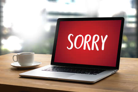 SORRY as wallpaper on laptop