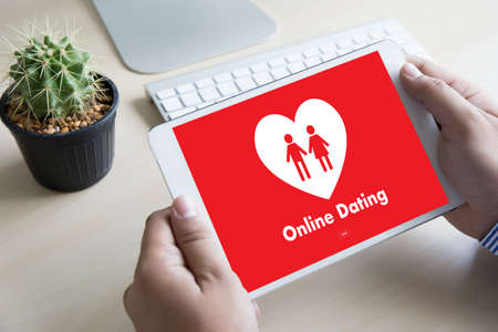 affinity: Online Dating match love man and woman and a heart, Internet Dating Digital Matchmaking