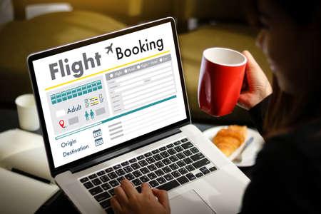 GO Flight booking. Online ticket booking concept Stok Fotoğraf