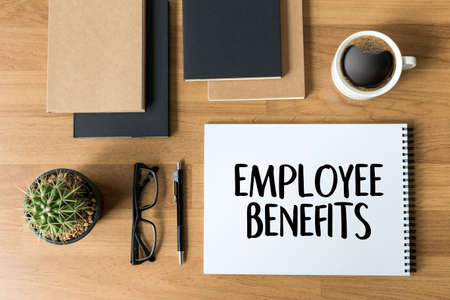 EMPLOYEE BENEFITS  TECHNOLOGY COMMUNICATION definition highlighted Stok Fotoğraf