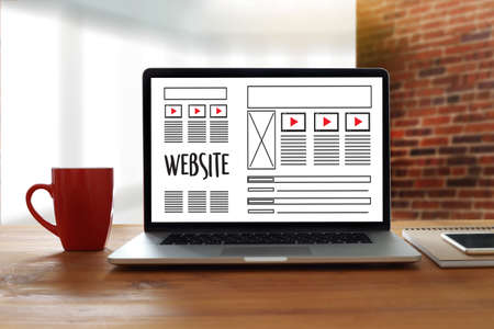 html: Web Design layout sketch drawing Software Media WWW and Graphic Layout Website development project