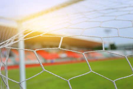 Soccer Netting football net and the goal stadium field