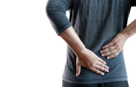 Jeune homme se sentant souffrance douleur de douleur de la douleur inférieure concept Banque d'images - 86623784