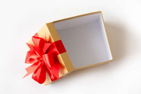 gift box Christmas happy Holiday greeting card anniversary  Christmas, new year, valentine day Foto de archivo
