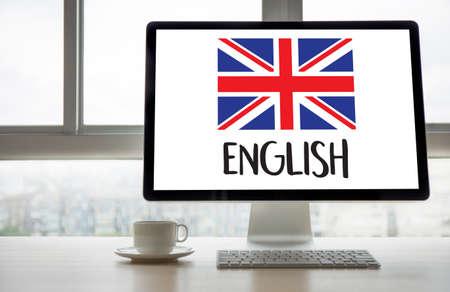 ENGLISH ( British England Language Education ) do you speak english? Stock Photo