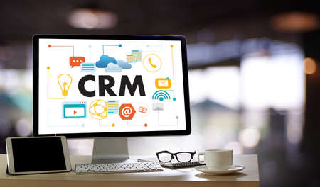 Business Customer CRM Management Analysis Service Concept management Archivio Fotografico