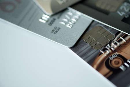 Closeup macro shot with credit card Background