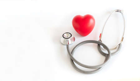 Red heart and a stethoscope Medical Equipment Healthcare medical insurance