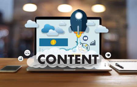 CONTENT marketing Data Blogging Media Publication Information Vision Content Concept