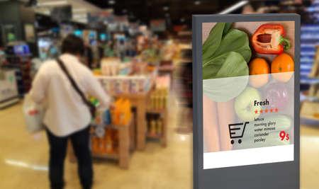pantalla digital Monitor digital inteligente Inteligencia artificial interactiva anuncio digital Señalización