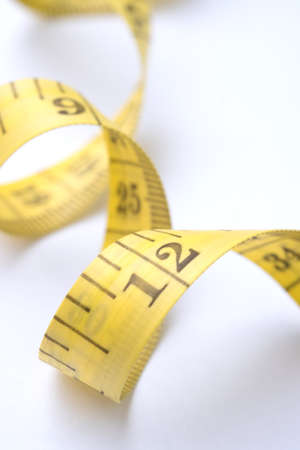 Measure tape for Checking Waistline Tailoring Meter to Healthy Stock Photo