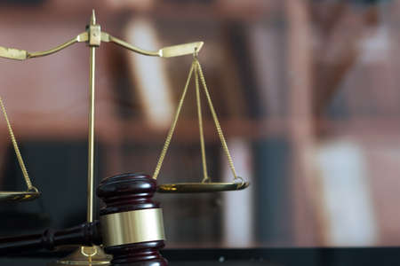 law concept Judge gavel and legal book  justice Lawyer workplace