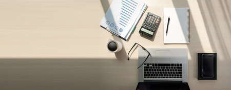 Close up businessman using calculator on documents Unrecognizable finance  use calculate about cost at office Banque d'images - 101295166