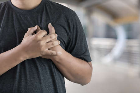 man disease chest pain suffering Heart attack