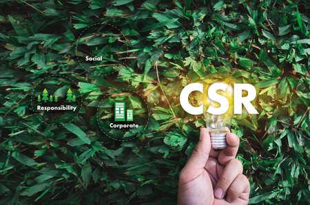 Corporate Social Responsibility CSR und Sustainability Responsible Office CSR Standard-Bild