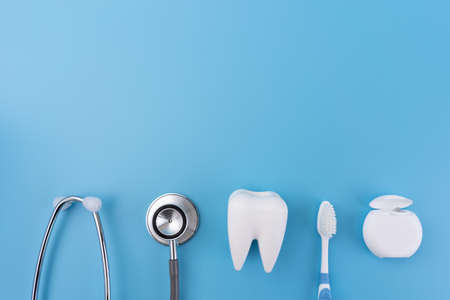 healthy dental equipment  tools for dental care Professional  Dental concept Stock Photo
