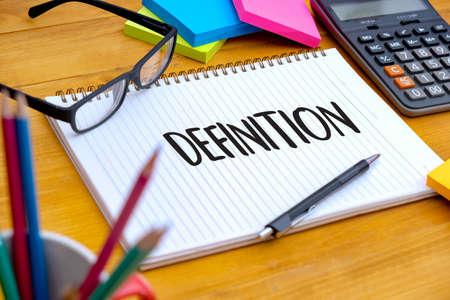 Mot de DÉFINITION, concept d'entreprise