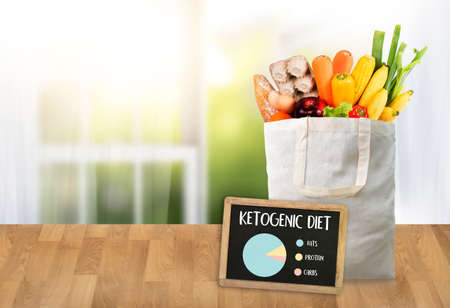 Ketogenic diet  Organic grocery vegetables Healthy low carbs