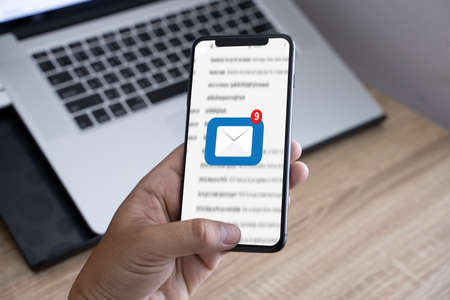 Mail Communication Connection message concept