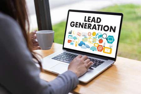 LEAD GENERATION Business Funnel Marketingprozess Standard-Bild