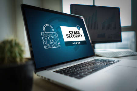 CYBER SECURITY Business, technology,Firewall Antivirus Alert Protection Security and Cyber