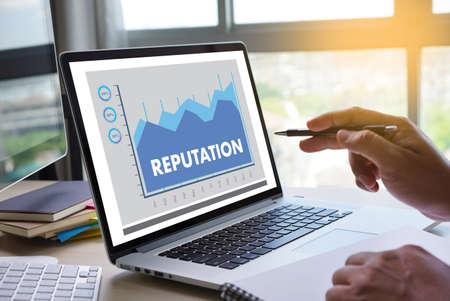 REPUTATION Beliebte Rangliste Ehre Reputationsmanagement Branding-Konzept