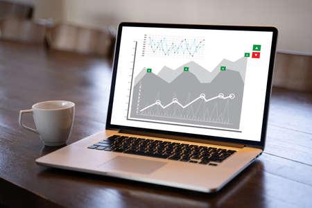 Customer Marketing Sales Dashboard Graphics Concept Business Man Sales Increase Revenue Shares Фото со стока