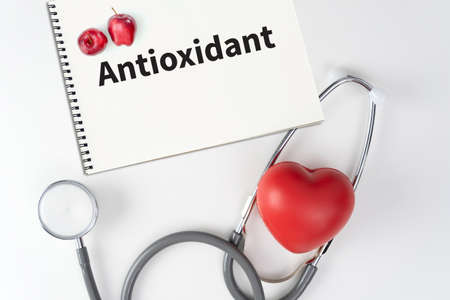 Antioxidants. Fruits Health food for fitness concept 版權商用圖片