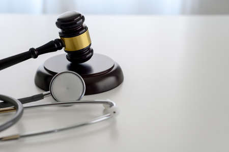 law concept Judge law medical Pharmacy compliance Health care business rules Banco de Imagens