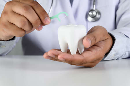 Tooth, health, dentistry concept image of dental care and treatment Stok Fotoğraf