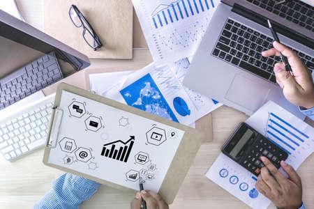 Marketing concept Business man startup project DIGITAL MARKETING