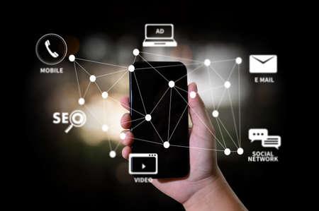 DIGITAL MARKETING nuovo progetto startup Online Search Engine Optimization Archivio Fotografico