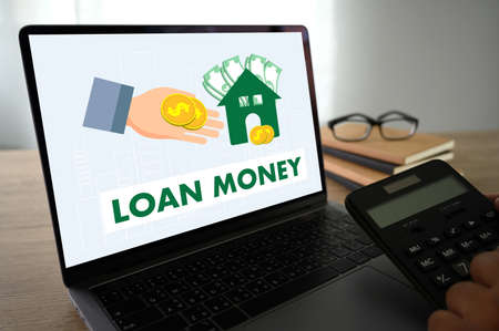 LOAN MONEY CONCEPT business and finance Saving money salary success