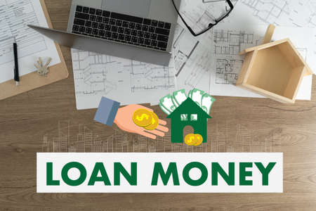 Real estate agent LOAN MONEY CONCEPT business and finance Saving money salary success