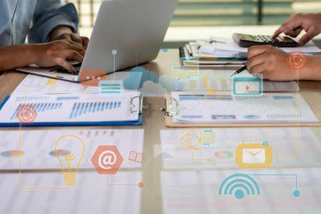 Financial report data of business technology digital Business Analytics Key Performance